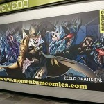 Campaña de Momentum Comics en el Metro