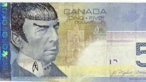 Mr Spock en los billetes de $5