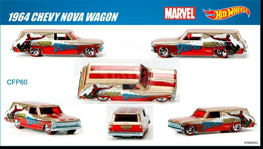 Marvel's Spider-Man Wagon Hot Wheels 2015