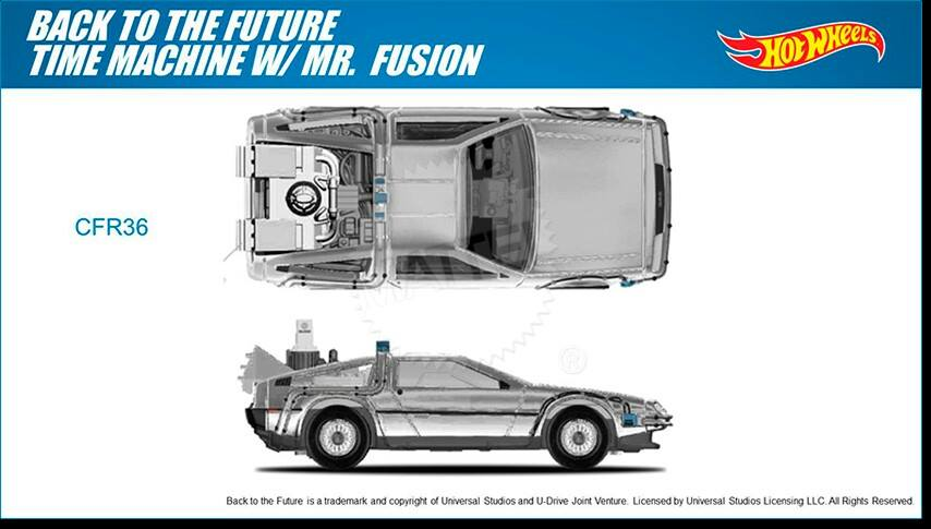 Delorean Back to the Future II with Mr Fusion Hot Wheels 2015