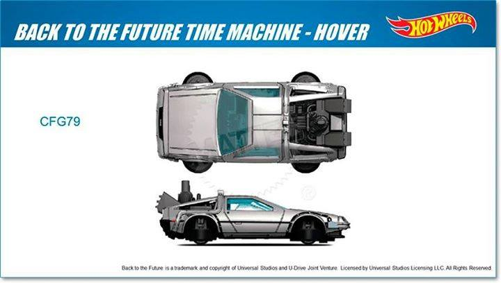 Delorean Back to the Future II Hover Hot Wheels 2015