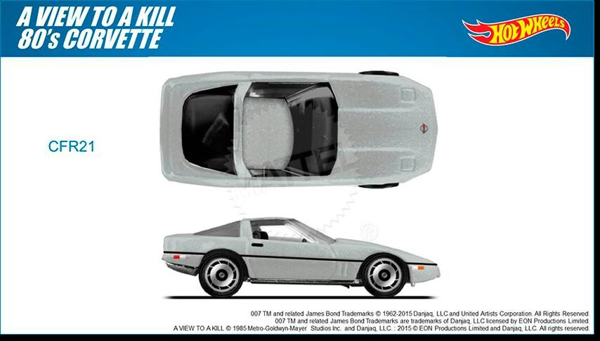 007 James Bond A view to kill Hot Wheels 2015