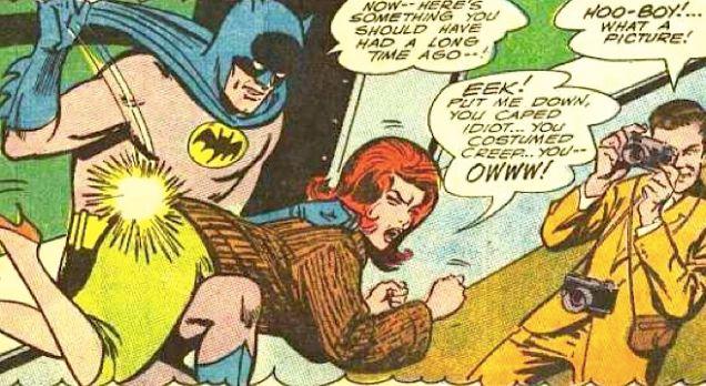 Batman spanks nalgadas