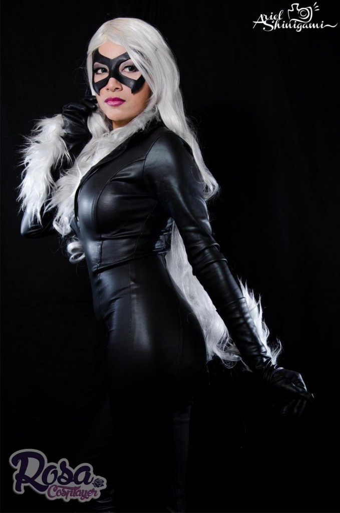 Rosa Cosplayer Gata Negra Black Cat