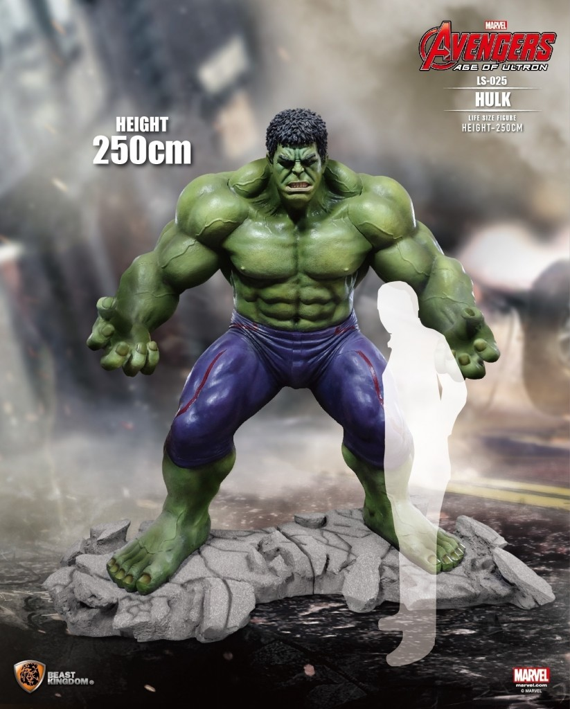 Estatua Hulk escala real