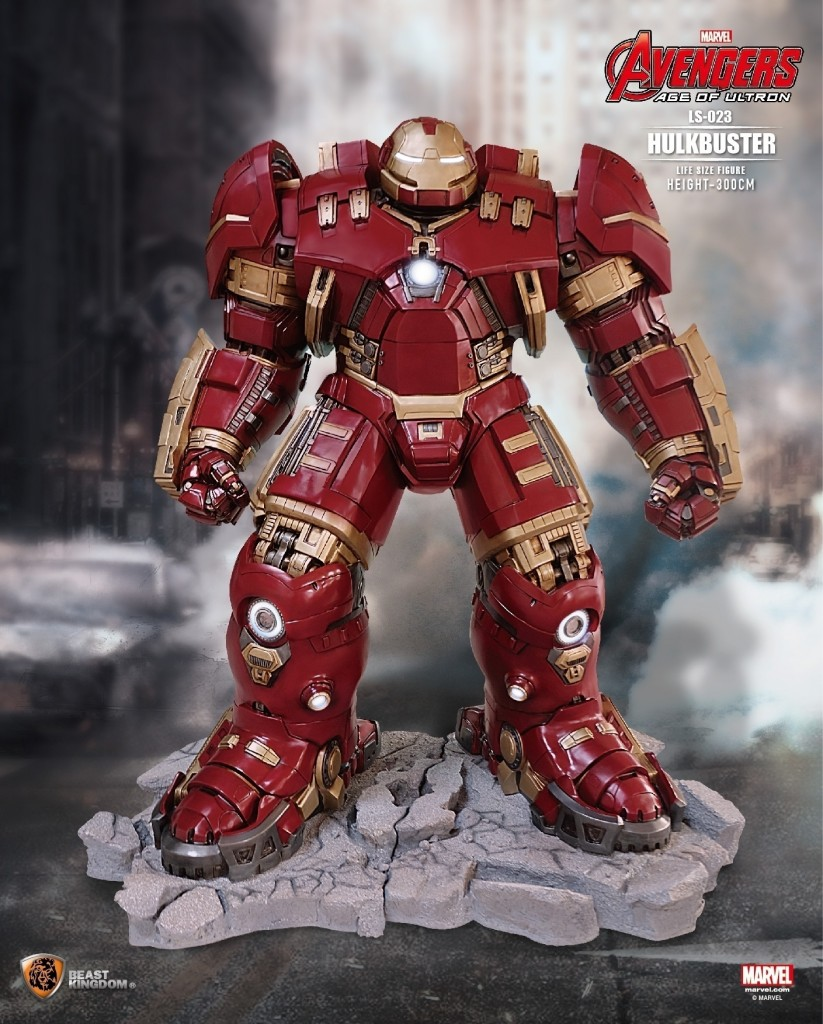 Estatua Iron man Hulkbuster escala real