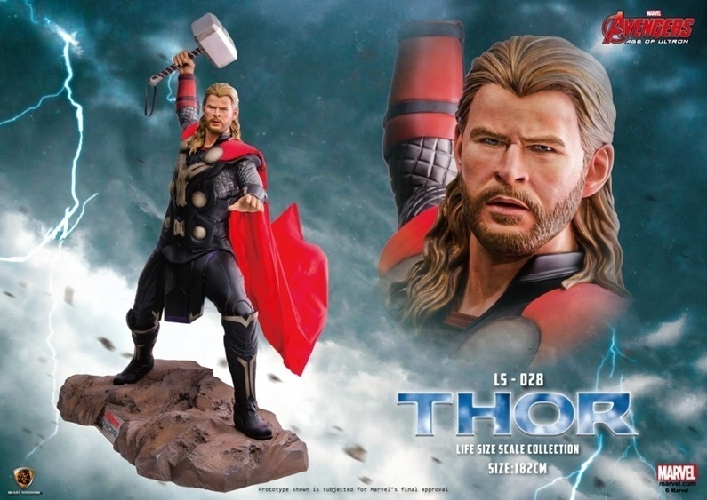 Estatua Thor escala real