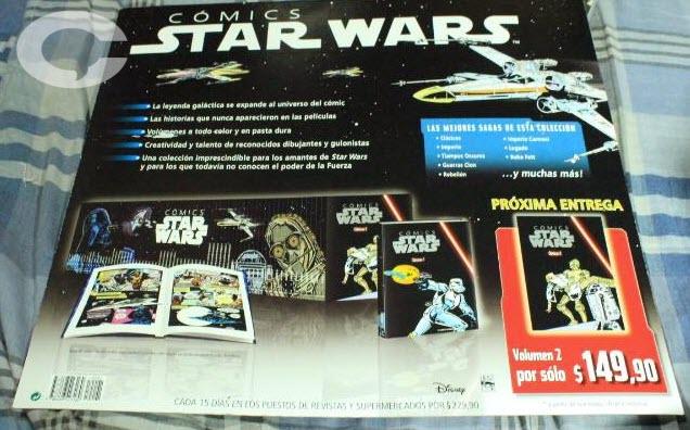 Star Wars presentación en formato largo para su venta en voceadores