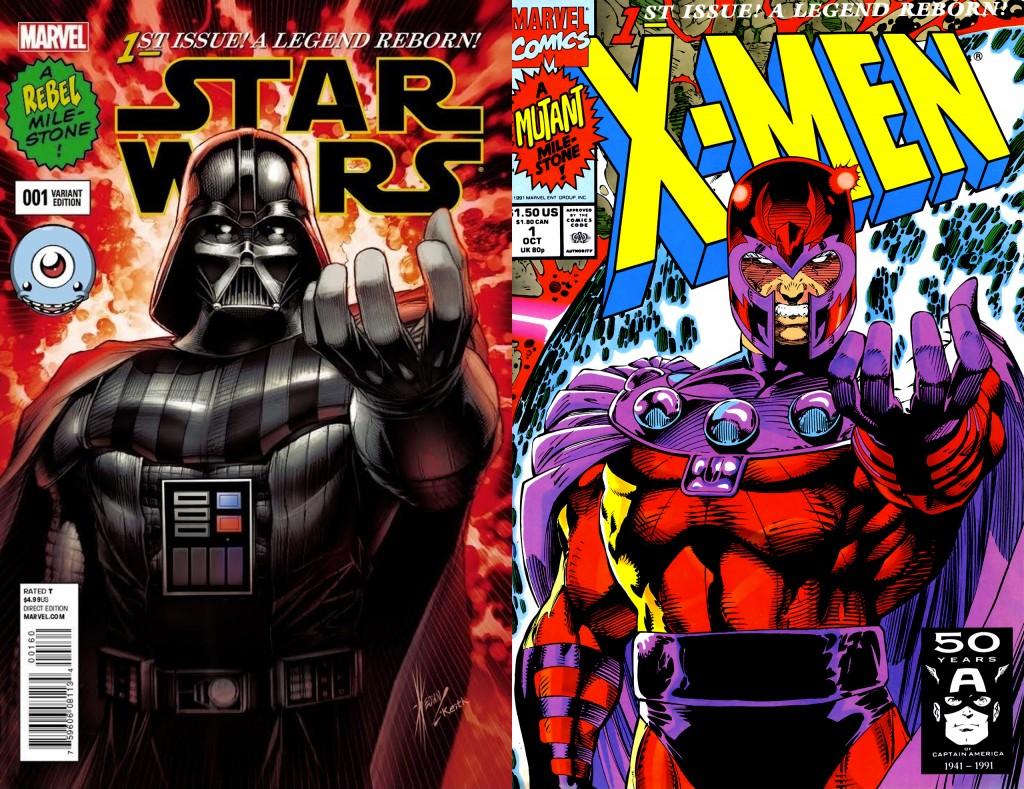 Star Wars #1 Darth Vader variante homage X-Men V2 #1