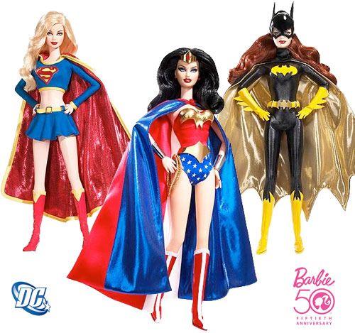 DC Superheroines Mattel Supergirl Wonder Woman Batgirl