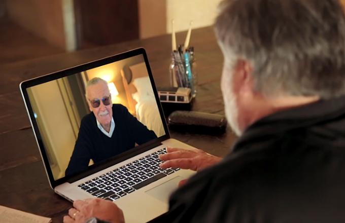 Stan Lee skypes with Steve Wozniak
