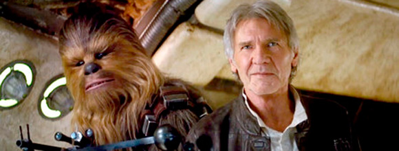Han Solo Chewbacca Star Wars Force Awakens