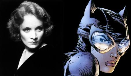 Marlene Dietrich, una de las grandes femme fatales del cine, era ideal para Catwoman