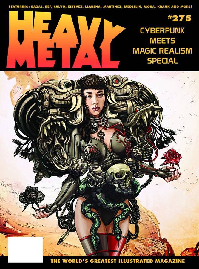 Con excepción de una historia, todo el contenido de Heavy Metal #275 es obra de autores mexicanos