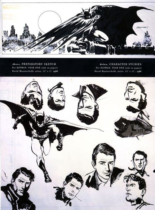 El propio David Mazzucchelli parecía visualizar a Gregory Peck como Batman