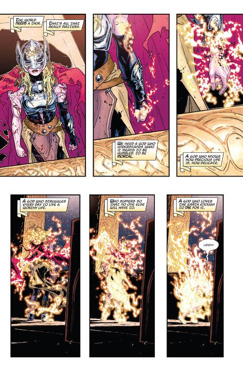 Una vez que el ritual termina y el poder de Thor deja el cuerpo, nos encontramos con...