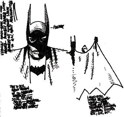¿Es esto un boceto de producción para el Bat-Man de Welles?