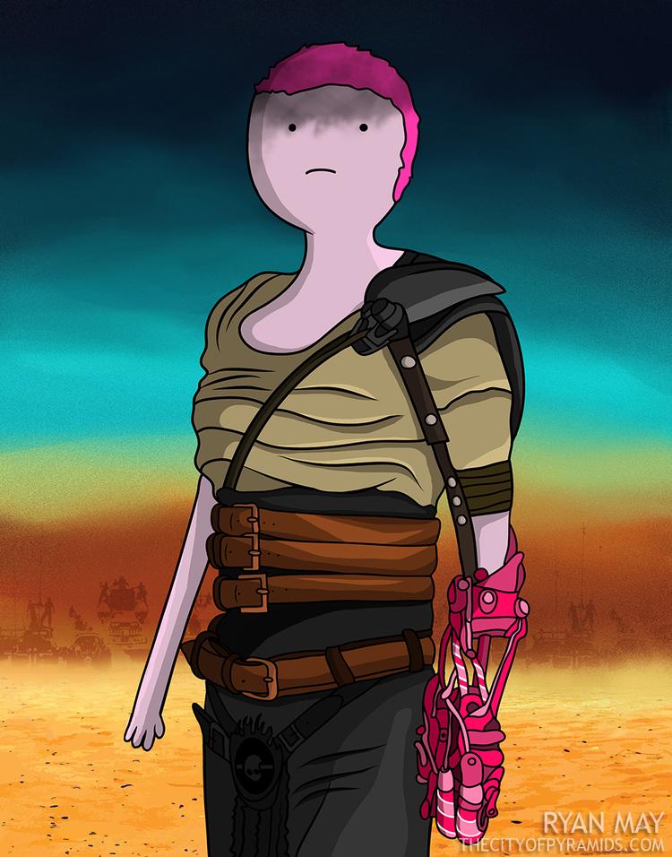 ¿Personaje femenino fuerte? Definitivamente Bubblegum llena la parte. Nótese la prótesis hecha de dulces