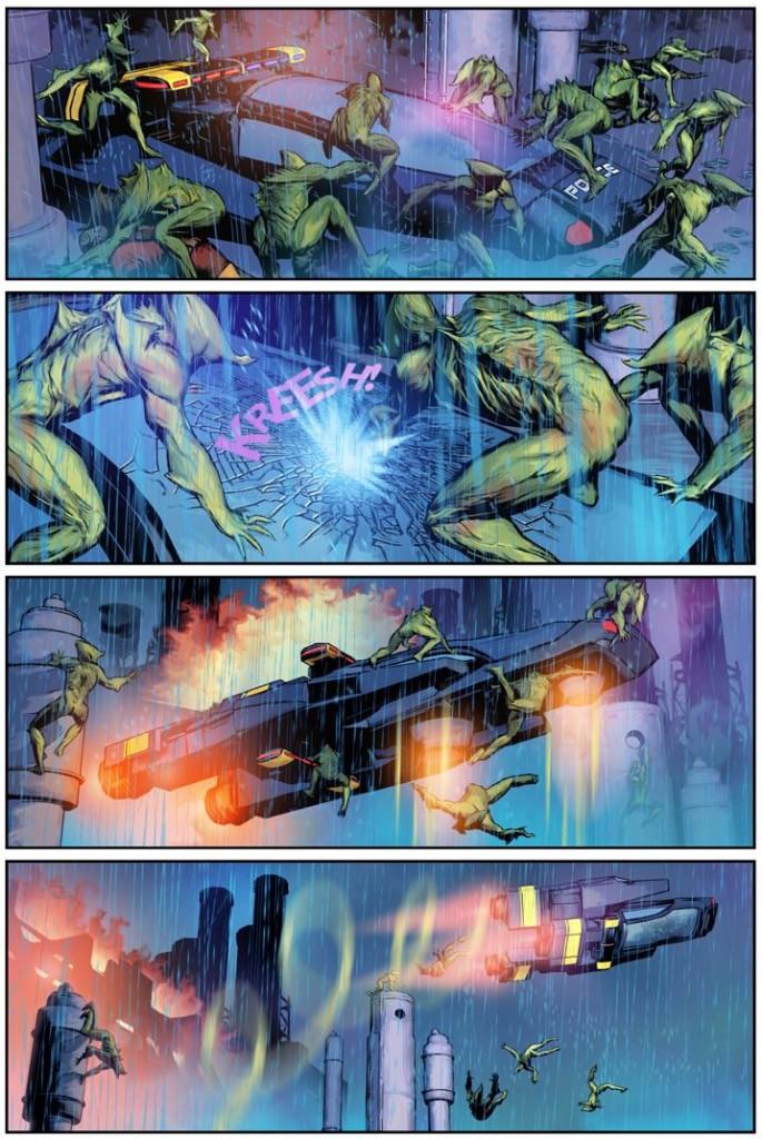En Mechanism, la Tierra tiene algunos años ocupada por invasores extraterrestres.