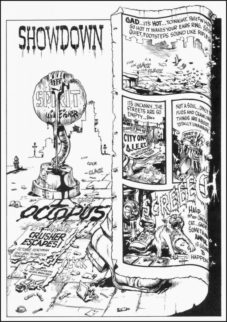 La variedad de formas en que Eisner jugaba con sus diseños de página parecía no tener fin