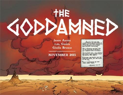 Jason Aaron piensa darle un tratamiento especial a las historias de la Biblia con The Goddamned.