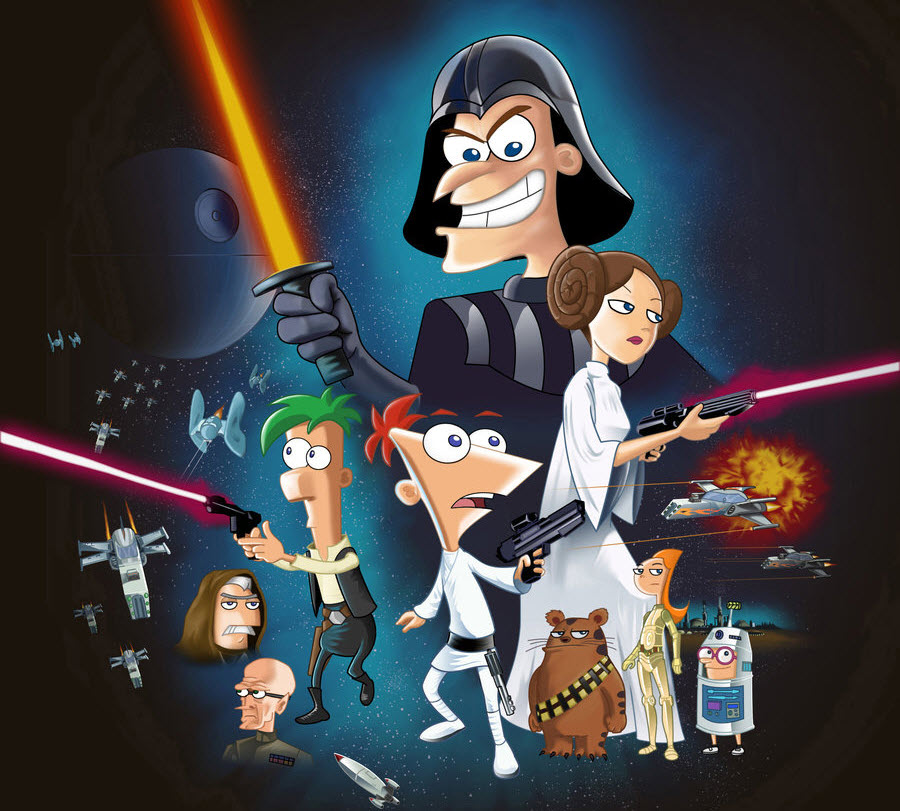 Phineas y Ferb vs el Darth Lord Slim