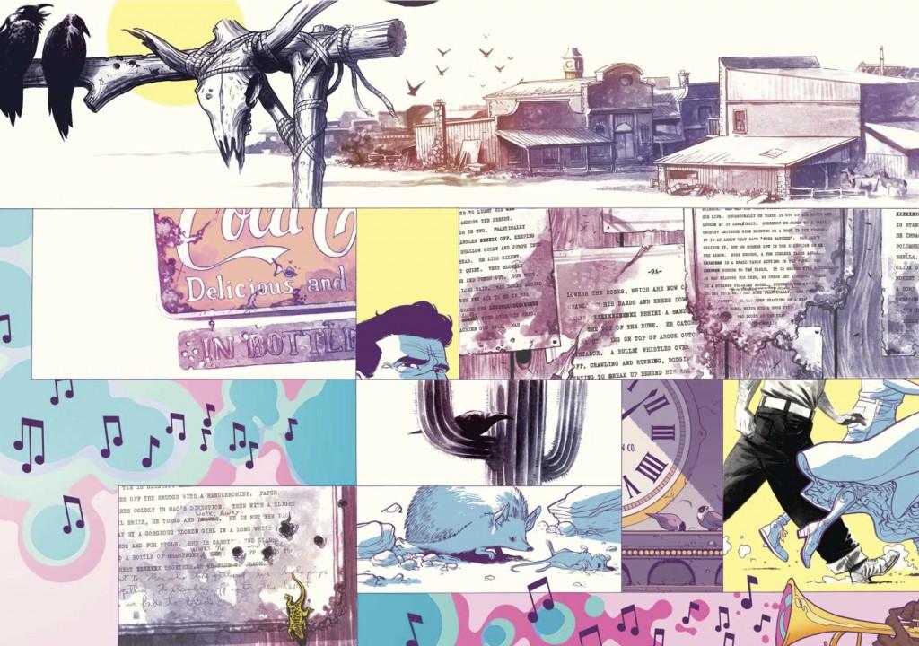 Tale of Sand nació como un guión para cine, y las primeras páginas muestran la transición a cómic