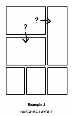 """El """"trazado Buscema"""" es un buen ejemplo de un mal diseño que lleva a una narrativa confusa."""