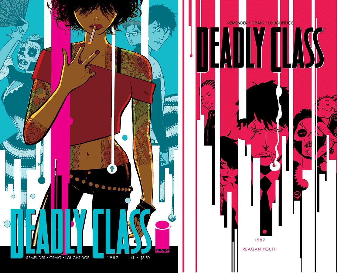 Visualmente, Deadly Class puede presumir de algunas de las portadas más atraxctivas en el mercado actual