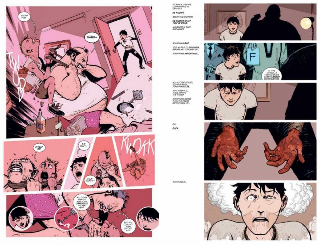 El diseño de página ayuda a establecer el peculiar ritmo narrativo de la serie