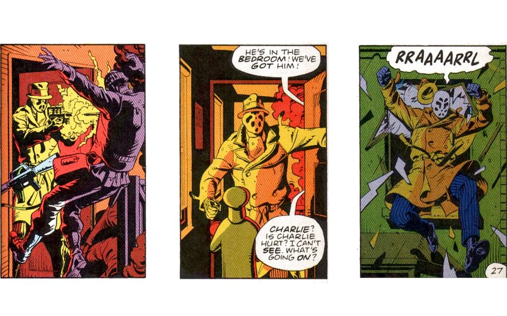El estilo cinematográfico de Watchmen.