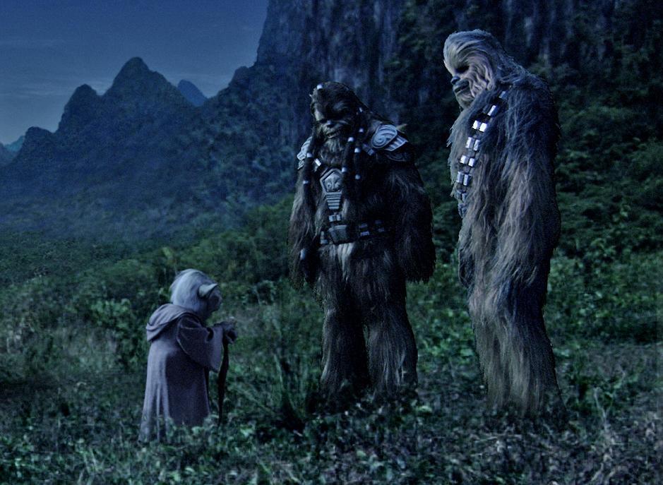 Chewbacca era amigo de Yoda. ¿Cómo acabó como asistente de un contrabandista?