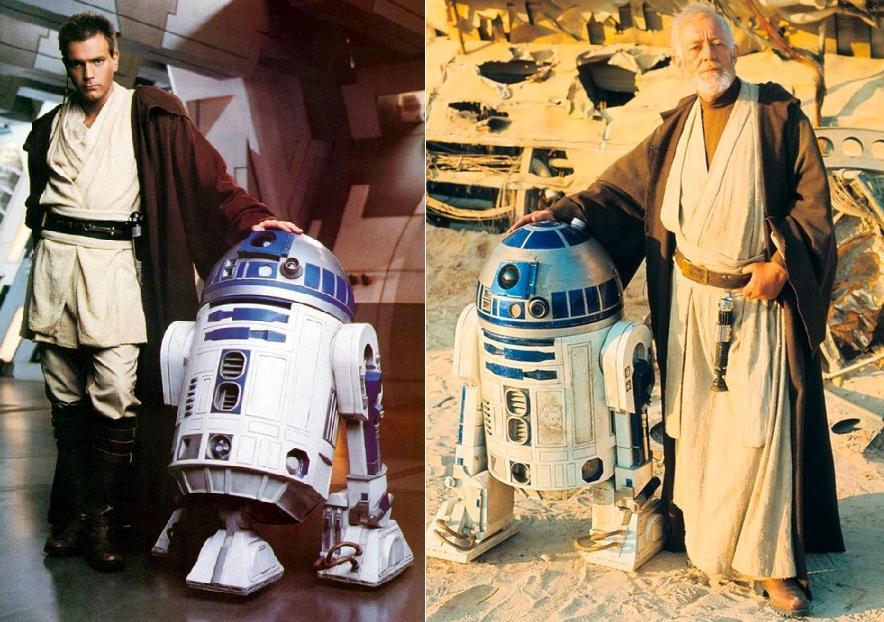 La relación entre Obi Wan y R2 abarca varias décadas.