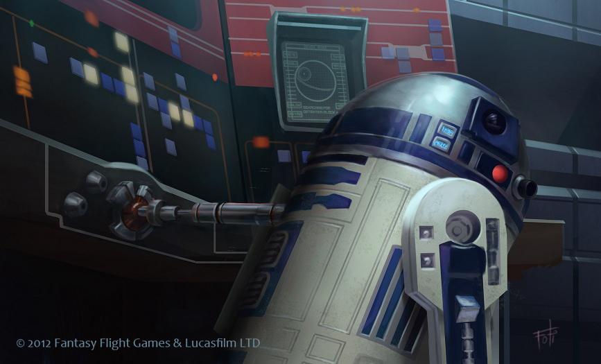 Las habilidades de R2 lo hacen invaluable para la Rebelión. Arte de Anthony Foti