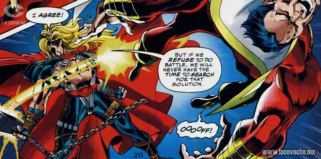 Hey Thor, Capitán Marvel es menor de edad, cuidado con la policía.