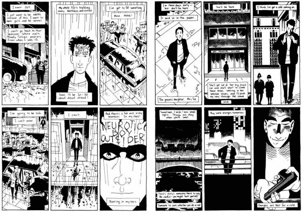 Paul Grist tiene un peculiar trazo, y su estilo aún no estaba tan definido al dibujar esta historia.
