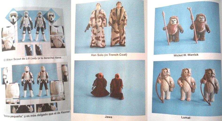 El libro ofrece una comparación entre las figuras originales de Kener y las producidas por Lily Ledy
