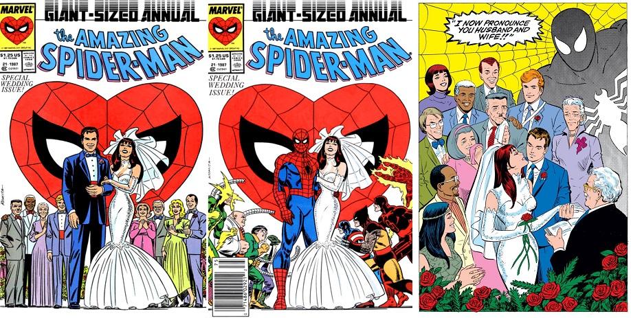 Con portadas de John Romita, Paul Ryan ilustró la boda de Peter Parker y Mary Jane Watson.