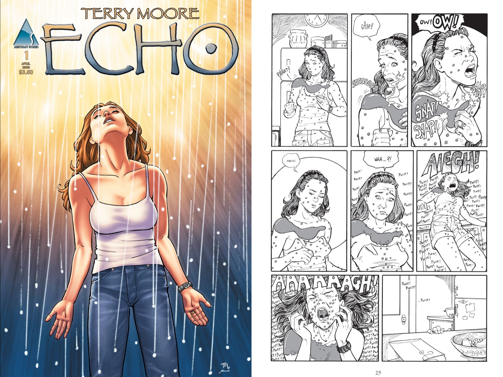 En las páginas de Echo, Terry jugó con elementos de ciencia ficción, pero sin renunciar a su estilo.