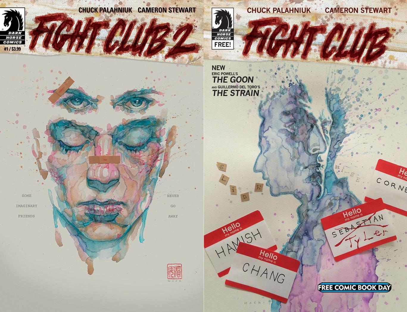 David fue elegido para realizar las portadas de Fight Club 2.