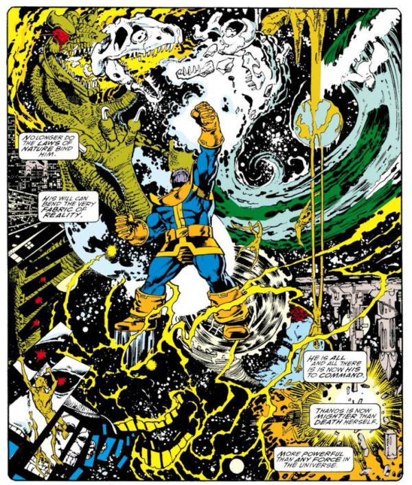 Pérez dio una nueva dimensión a la saga cósmica de Jim Starlin en Infinity Gauntlet.