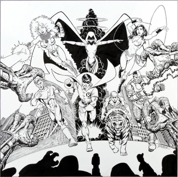 El trabajo de Pérez en New Teen Titans, al lado de Marv Wolfman, catapultó su popularidad.