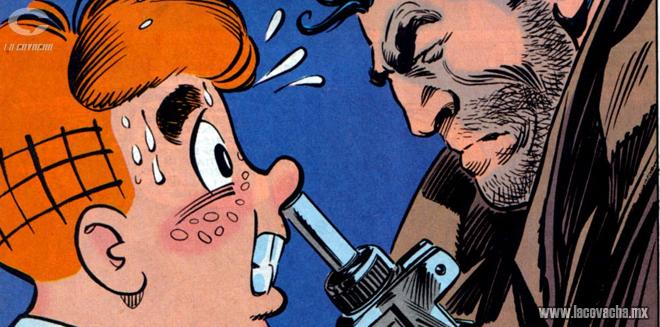 Dos iconos de los cómics en una viñeta