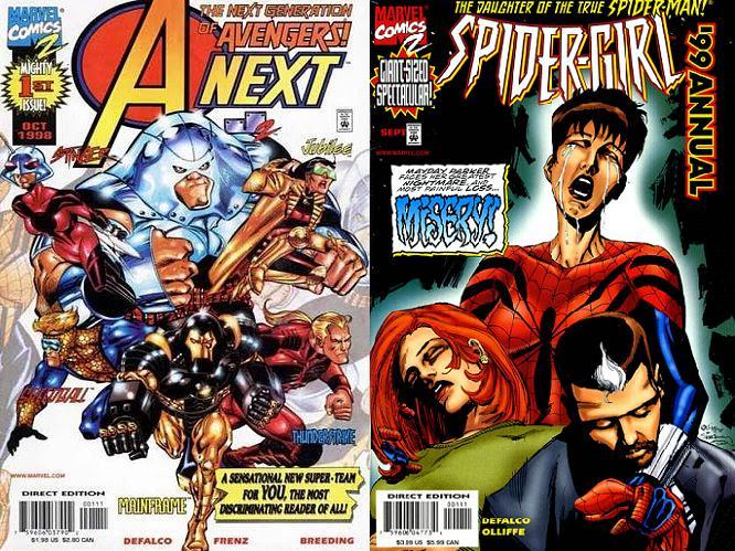 Junto a DeFalco y Frenz, Breeding fue parte del lanzamiento de Marvel Comics 2.