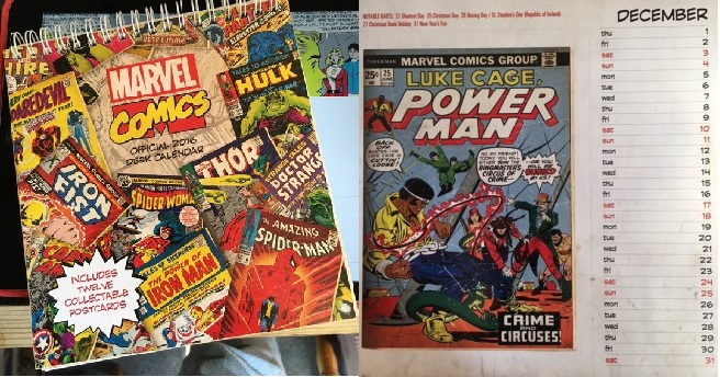 El Calendario 2016 de Marvel omite a dos de sus franquicias más importantes.