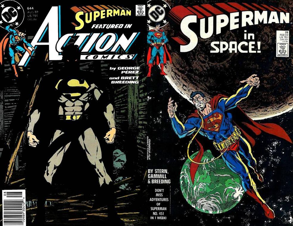 En los títulos de Superman fue colaborador de artistas como George Perez y Kerry Gammill.