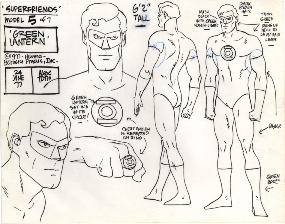 Alex Toth - GL Super Friends