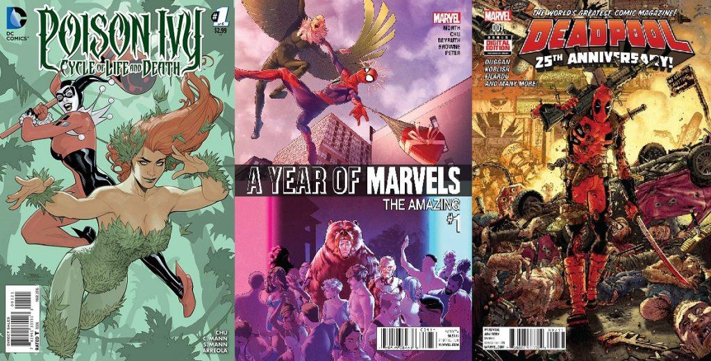 Su trabajo más reciente involucra populares propiedades tanto de DC como de Marvel.