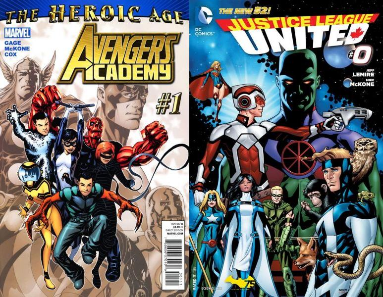 Entre los trabajos más recientes de Mike destacan Avengers Academy y Justice League United.