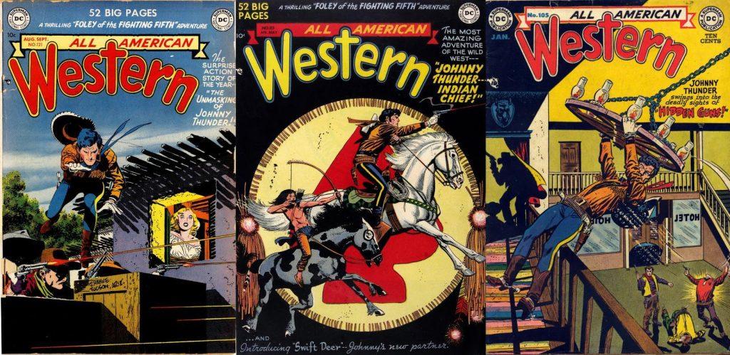 Su trabajo en las páginas de All-American Western, con las aventuras de Johnny Thunder, le ganó notoriedad.